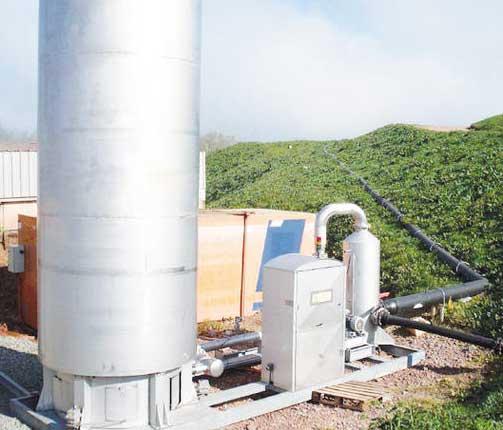 compression du gaz et torchère